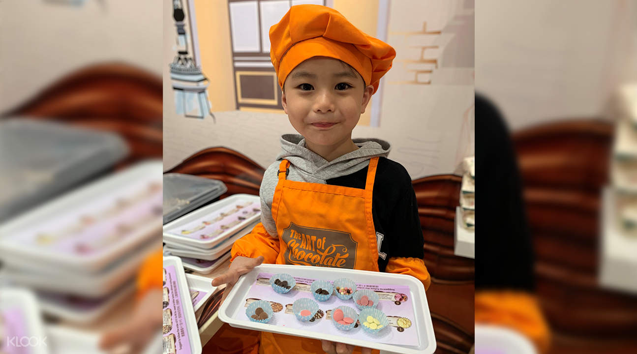 Children participating in chocolate workshop
